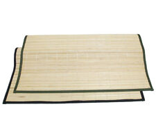 "3'x6' 36""x72"" Natural Bamboo Floor Mat Area Rug Tatami Beige Black Green"