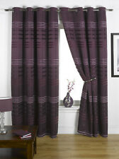 Ready Made Fully Lined Eyelet Curtains Purple (Mad)