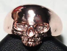 KEITH SKULL RING ROSE GOLD PLATED BRASS lady version