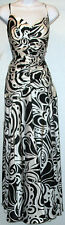 NWT JESSICA McCLINTOCK black with white opened strap back gown dress, 12 or 8