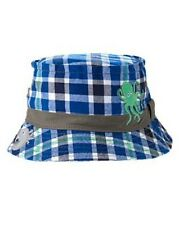 NWT Gymboree Deep Sea Octopus Angler Fish Plaid Sun Bucket Hat NEW 0-12mos 2T 3T