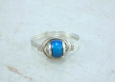 Sterling Silver MOOD Bead Wire Ring-Free Ship!