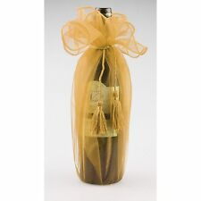 Organza Wine Bottle Wrap with Tassel Cord, 28-inch, 6-pack