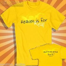 NEW * Heaven Is For Real ! * CHRISTIAN KIDS T-SHIRT by KERUSSO YOUTH SIZES
