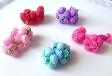 1 Pair Little Rose Flower Polka Dot Girls Ponytail Hair Holder Scrunchies F041