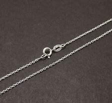 1.5mm Solid Oval Cable Chain Necklace 925 Sterling Silver FREE SHIPPING