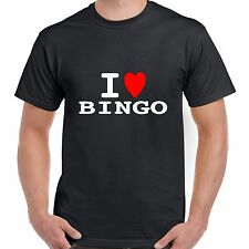 I heart love BINGO T shirt BNWT choose colours fun retro novelty stag party