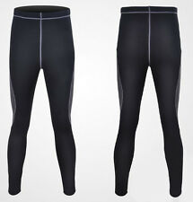 Mens Thermal Compression Fit Base Winter Under Wear Long Sleeve Cycling Pants