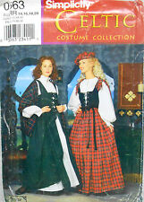 Simplicity 8855 OOP Misses' Scottish Celtic Costume Pattern 6-12 or 14-20