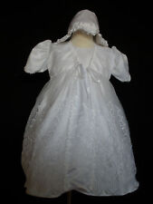 New Baby Girl Christening Baptism Formal Dress Gown size 18-30 M White