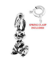 Sterling Silver Long Ear Bunny Rabbit - Easter Bunny Rabbit Charm