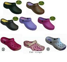 LADIES WOMENS GARDEN NURSE KTCHEN WORK BEACH CLOGS WETLANDS SHORESIDE FAB67