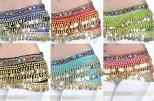 New Gold Coin Belly dance Scarf Belt 9 Color #EY