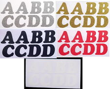Iron On Alphabet Letters Washable Transfers Plain, Glitter & Metallic x 40 or 60