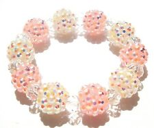 ELASTIC BAND PARIS SHAMBALLA BRACELETS- DISCO BALLS-KIDS / CHILDREN SIZE