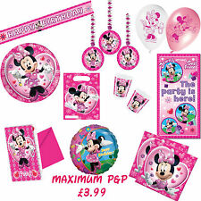 MINNIE MOUSE PARTY ITEMS invitations, banners, bags, napkins, balloons and more