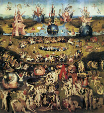 Garden of Earthly Delights 1510 by Hieronymus Bosch Painting Art repo FREE S/H