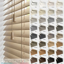 WOODEN VENETIAN BLINDS - MADE TO MEASURE - 25,35 & 50mm SLATS - REAL WOOD BLINDS