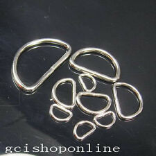 "10 PCS Non Welded Dee Rings for Webbing D Ring Buckles Bag 3/4"" 5/8"" 1"" 1.5"" CH"