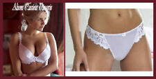 Splendour White Classic Plunge Bra & Thong Set Various Sizes