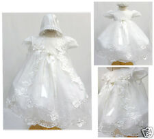 New Infant Girl & Toddler Christening Baptism Formal Dress size New Born to 30 M