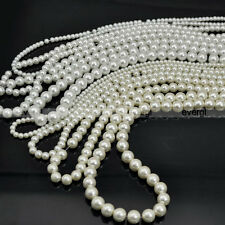 New 4mm/6mm/8mm/10mm Round Glass Pearl Beads Wholesale