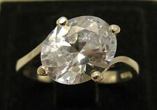 STYLISH STERLING SILVER RING SOLID 925 CZ SIZE 3.5 - 10