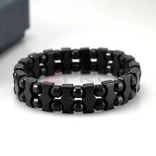 Power Health Tourmaline Special Beads Stretch Bracelet Wristband Energy /w Box