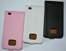 Real Genuine Flip Leather Pouch Case Cover for Samsung Galaxy s2 II I9100
