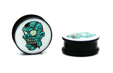 ZOMBIE MONSTER ACRYLIC SINGLE FLARE W/ O-RING EAR GAUGES PLUGS tunnel vampire