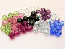 10 x Genuine SWAROVSKI Crystal 5000 ROUND Facet BEADS ~ 4mm / 5mm / 6mm ~