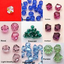 4 x Genuine SWAROVSKI Crystal BICONE BEADS 8mm or 10mm ~CLEAR AB or PICK COLOR~