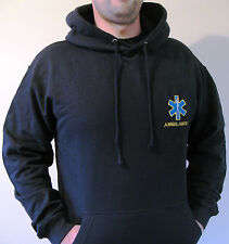 UNISEX CUSTOMISED STAR OF LIFE & YOUR TEXT EMBROIDERED MEDICAL SERVICE HOODIE