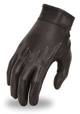 First Classic Ladies Flame Embroidered Gel Palm Glove HD113 for Motorcycle Rider