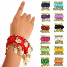 Belly Dance Wear Wrist Ankle Arm Cuff Bracelets Match Hip Scarf wristband 1 Pair
