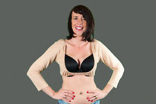 Tall Tan Fitted 3/4 Stretch WingZ Cover Up Shrug 12,14,16,18,20,22,24,26,28 W50