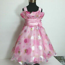 P3388 Pink Princess Fairytale Party Flower Girls Prom Dresses SIZE 2 3 4 5 6 7 8