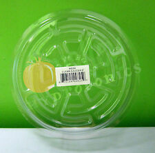 "CLEAR 6"" inch SAUCER (5, 12, 25 Pack) Vinyl Reuseable Sturdy Plant Pot Tray Pan"