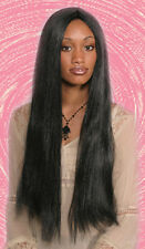 "BLACK LONG WITCH COSTUME 28"" LONG BLACK STRAIGHT WOMAN COSTUME WIG NO BANGS 4014"