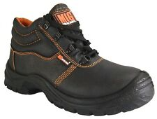Mens Steel Toe Cap Leather Safety Boots Size 6 to 11 UK - WORK CASUAL LEISURE