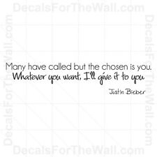 Justin Bieber One Time Girl Wall Decal Vinyl Sticker Quote Decor Lettering B80