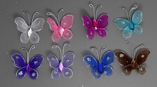 24pc 3cm Nylon Artificial Butterfly Wedding Supplies  Decorations Free Shipping