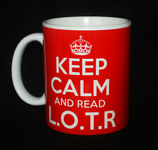 NEW KEEP CALM AND READ L.O.T.R GIFT MUG CUP RETRO CARRY ON LORD OF THE RINGS