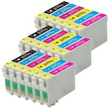 18 Ink Cartridges non-OEM to replace T0801 T0802 T0803 T0804 T0805 T0806 (T0807)