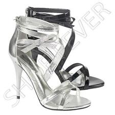 Ladies Wedding Sandals New Womens Heels Stiletto Party Evening Prom Shoes Size