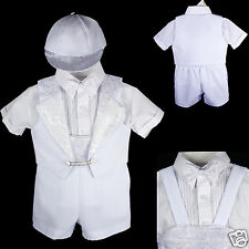New Infant Boy & Toddler Christening Baptism Formal Tuxedo Suit New Born 0M-3T