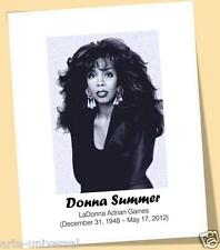 DONNA SUMMER 1948-2012 clay drawn PRINT POSTER SIZE MUSIC 70'S SINGER RIP...