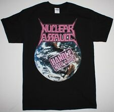 NUCLEAR ASSAULT HANDLE WITH CARE'89 TRASH METAL ANTHRAX S.O.D. NEW BLACK T-SHIRT