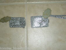 MIRROR, MIRROR CHANGE PURSE OR I.D.HOLDER ~ YOU CHOOSE- SILVER METALLIC LEOPARD