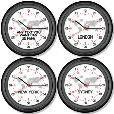 24 Hour Wall Clock 24 hr Military World Time Any Location London New York Sydney